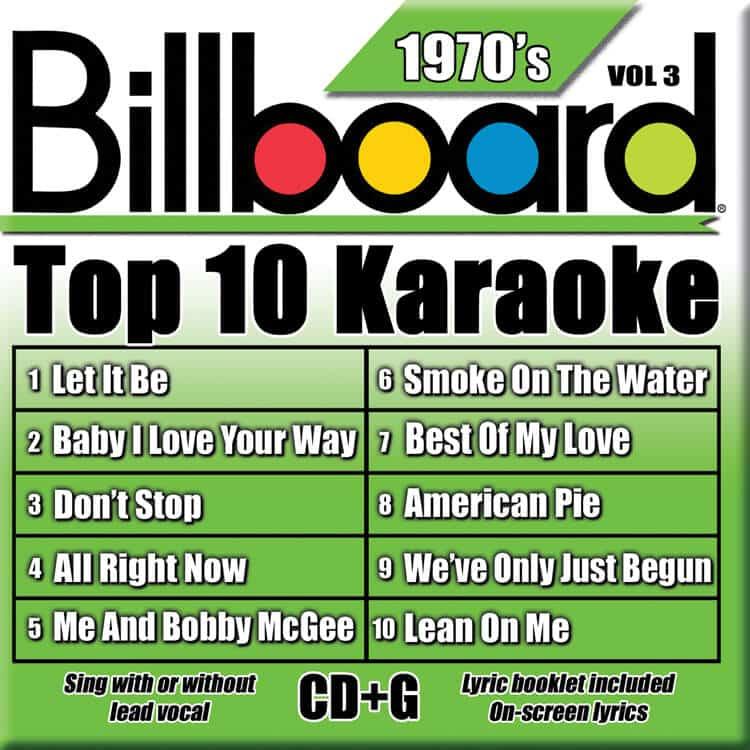 BILLBOARD TOP 10 KARAOKE BOX SET 3