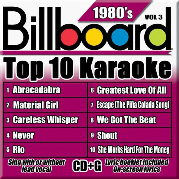 Billboard 80's Karaoke – Vol 3