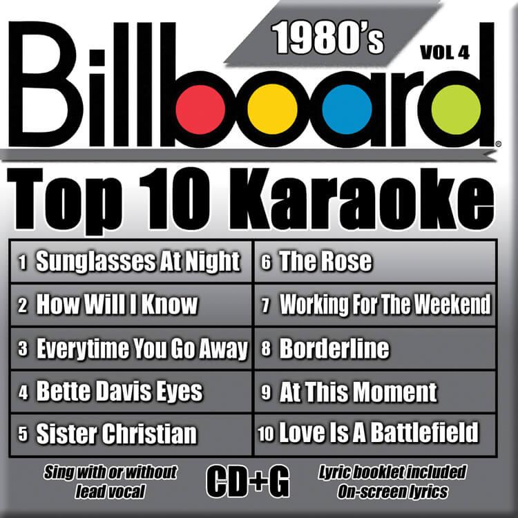 BILLBOARD TOP 10 KARAOKE BOX SET 4