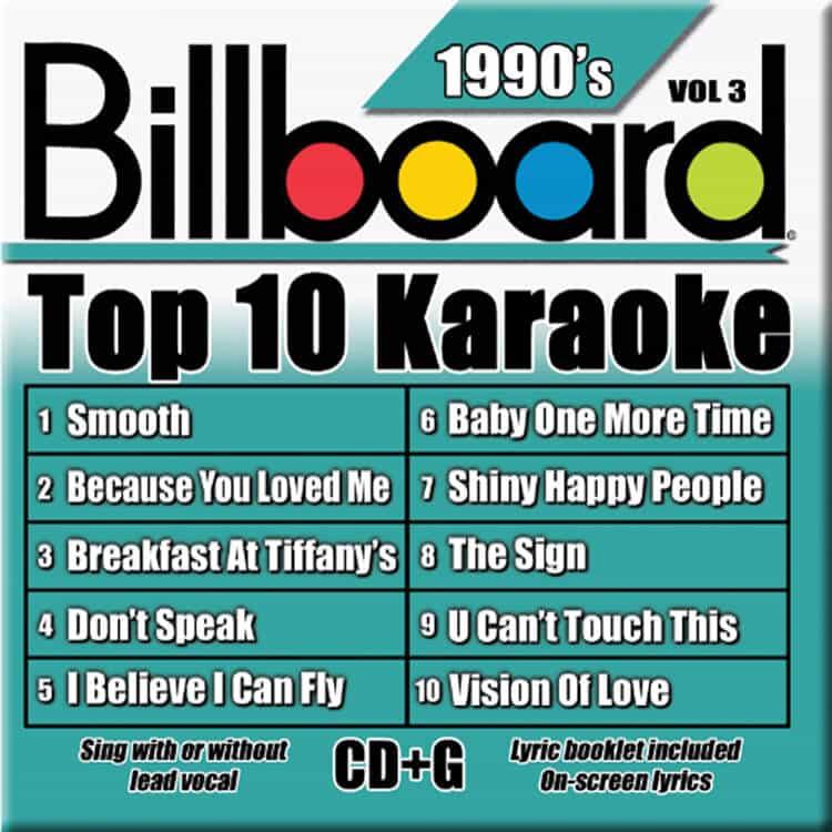 Lyric lyrics to because you loved me : BILLBOARD TOP 10 KARAOKE BOX SET 3   Party Tyme Karaoke