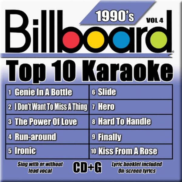 Billboard 90's Karaoke – Vol 4